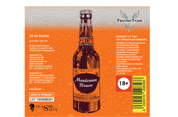 Flavour-Trade Mandarinen Brause 20ml Aroma