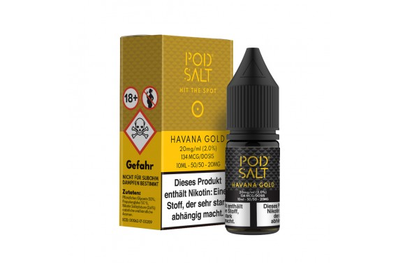 Pod Salt - Havana Gold 10 ml - 20 mg/ml